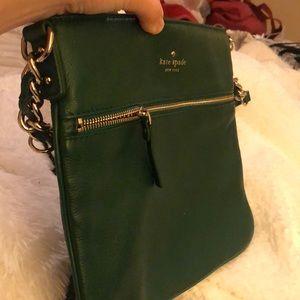 kate spade Bags - Kate Spade green leather shoulder bag